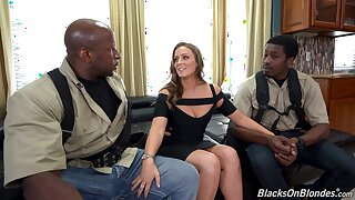 Duo black guys fucks white unreserved nigh plump ass Febby Twigs