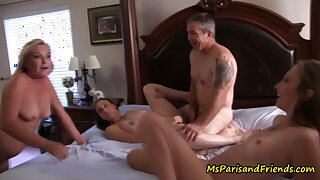 Posing as A a Census Taker, Ms Paris Gets to Join the Orgy