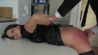 Rough bondage sexual intercourse excites filial Barbara Bieber immensely