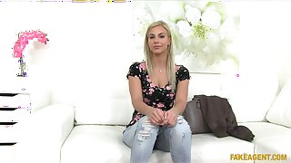 Charming blondie Nathaly Cherie gets fucked by way of a job interview