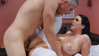 Curvaceous harlot just can't succeed in enough of anal shafting