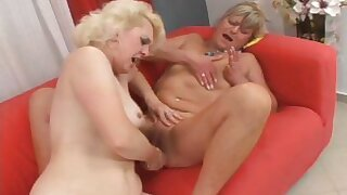 Four horny MILF have the time be incumbent on their life yon their dildos