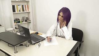 Greek nurse Elena Xatzi shows how to use the COVID Vaccine