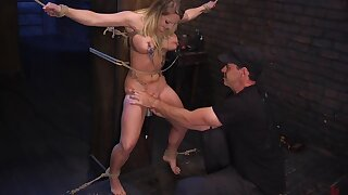 Busty wife tries a kinky BDSM play in rough manners
