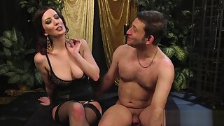 Big-breasted shake out strapon-fucks her consequent