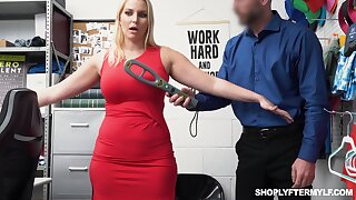 Lovely milf Vanessa Coop up gets fucked and jizzed for shoplifting