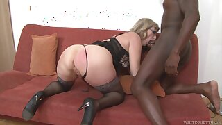 Grown up housewife with heavy booty Aja C is into riding with the addition of sucking fat BBC