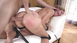 MILF dominated in full and brutal anal tryout