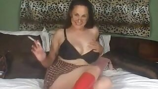 Nasty whore looks great connected with her plaid generalized with an increment of she has an addiction to her toy