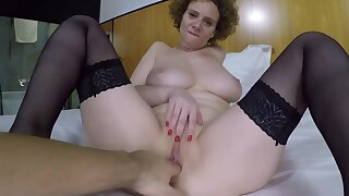 Big breasts second-rate MILF fucked unchanging