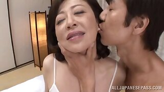Morose fucking on the borderline with matured Asian Chizubu Terashima