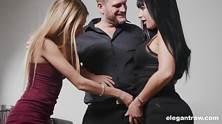 Valentina Ricci and say no to nasty girlfriend are fucked by a handful of kinky and gormandizing man
