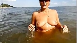 My playful wife is happy give tease her clit germane in the river